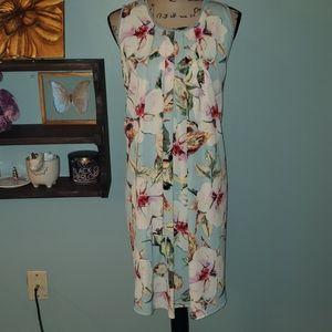 New Umgee Sleeveless Floral Shift Dress